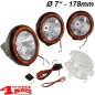 "Preview: Additional Floodlight HID Offroad Light Kit Black Plastic 7""Ø 35W 3nd Set"