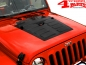Preview: Hood Application Black Steel Jeep Wrangler JK year 07-18