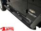 Preview: Side Tube Steps Europe Ø 75mm Black TÜV Wrangler JK year 07-18 4-doors