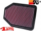Preview: Sport Air Filter K&N Wrangler JK year 07-18 3,6 L + 3,8 L