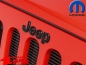 Preview: Grille Overlay Jeep Badge Black Wrangler JK year 07-18