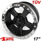 Preview: Aluminum Wheel 8,5x17 ET +10 Beadlock Bright Polished TÜV Wrangler JK year 07-18