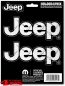 Preview: Decal Set 3 pieces Jeep Logo Diamond Plate Chrome