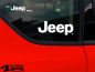 Preview: Aufkleber Set Jeep Logo weiß It's a Jeep thing 3-teilig