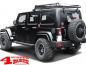 Mobile Preview: Side Tube Steps Black Rock textured Wrangler JK 07-18 4-doors