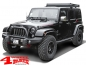 Preview: Side Tube Steps Black Rock textured Wrangler JK 07-18 4-doors
