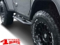 Preview: Side Tube Steps Black Rock textured Wrangler JL year 18-19 2-doors