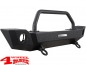 Preview: Front Winch Bumper Steel Black Textured Wrangler JL year 18-19