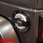 Preview: Gas Hatch Cover Fuel Black Silver Carbon Wrangler JK year 07-18