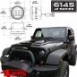 Preview: LED Nebelscheinwerfer Black 6145 J2 Serie Wrangler JK Bj. 07-18