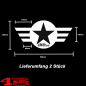 Preview: Decal Pair White Star and Stripes with Logo Wrangler JK JL 07-20