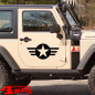 Preview: Decal Pair Black Star and Stripes Wrangler JK JL JT year 07-20