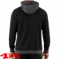 Preview: Sweatshirt mit Kapuze mit Jeep Aufdruck in Black Grey Melange