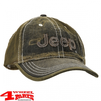"Base Cap Jeep ""Used-Look"" Heavy Stone Washed by Mopar"