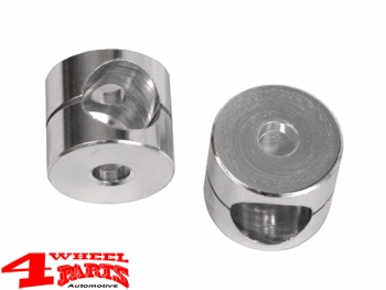 Billet Aluminum Mirror Bushing CJ + Wrangler YJ TJ year 55-06