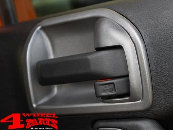 Charcoal Door Handle Interior Cover 2 pce. Wrangler JK year 11-18