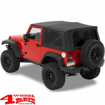 Door Hinge Cover Kit Textured Black Wrangler JK year 07-18 2-doors
