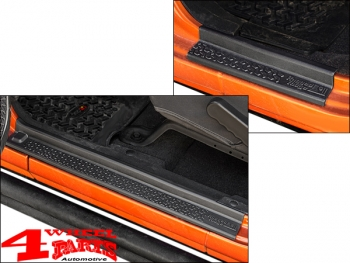 Entry Guard Set 4 pce. Black Thermoplastic Wrangler JK year 07-18 4-doors