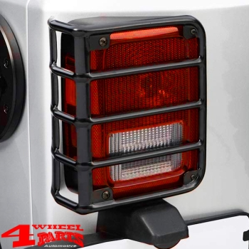 Tail Light Guards Pair Black Satin Wrangler JK year 07-18