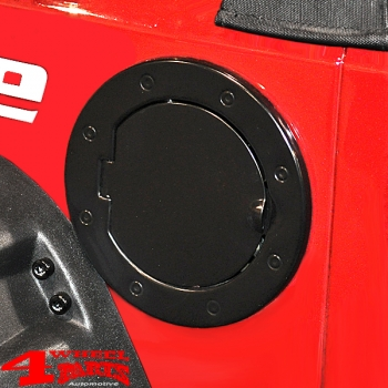 Gas Hatch Cover Black Painted Stainless Steel Wrangler JK year 07-18