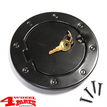 Gas Hatch Cover Locking Stainless Steel Black Wrangler JK year 07-18