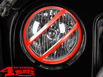 Head Light Guard Set Red Pivot Wrangler JK year 07-18