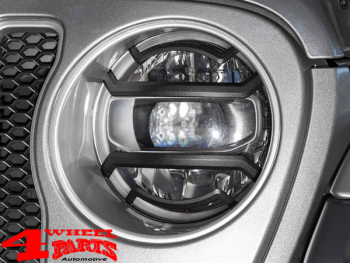Head Light Guard Set Textured Elite Wrangler JL year 18-20
