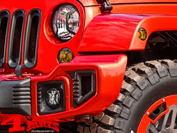 Side Marker Light Guard Set Textured Elite Wrangler JK year 07-18
