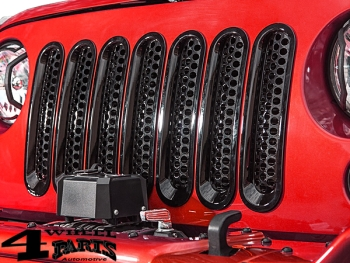Insert Grill Screen Mesh Gloss Black ABS Plastic Wrangler JK year 07-18
