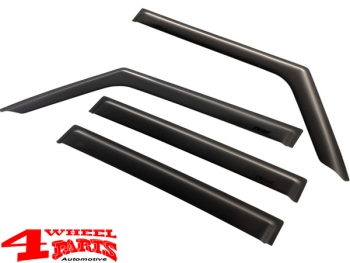 Rain Deflector Set 4 pce. Matte Black Wrangler JL year 18-19 4-doors