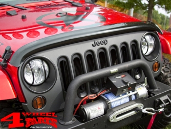 Wrap Around Bug Shield Acrylic Smoke Wrangler JK year 07-18