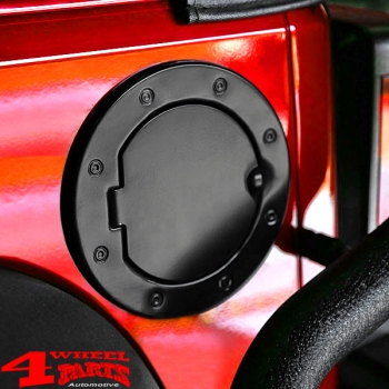 Gas Hatch Cover Black Aluminum Jeep Wrangler JK year 07-18