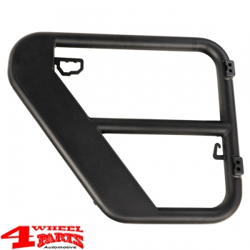 Fortis Tube Doors Rear Black Wrangler JK year 07-18 4-doors