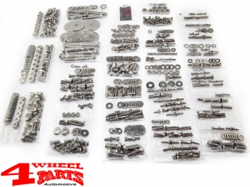 Body Fastener Kit Stainless Steel Soft Top Model YJ year 87-95
