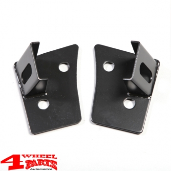 Windshield Light Brackets Black incl. Lights Wrangler JK year 07-18