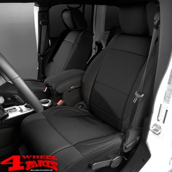 Seat Covers Pair Neoprene Front Black Wrangler JK year 11-18