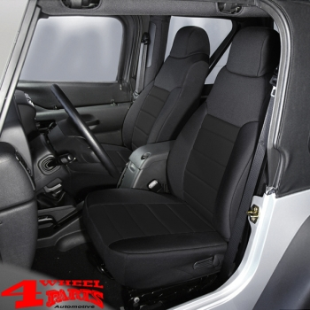 Seat Covers Poly Cotton Front Black Wrangler TJ year 97-02
