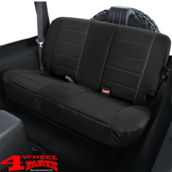 Pleasing Seat Cover Neoprene Rear Black Wrangler Tj Year 03 06 Dailytribune Chair Design For Home Dailytribuneorg