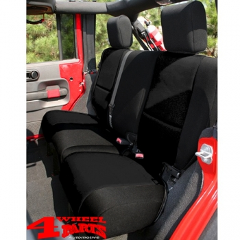 Seat Cover Neoprene Rear Black Wrangler JK year 07-18 4-doors