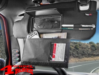 Sun Visor Organizer Covers Jeep Wrangler JK year 10-18