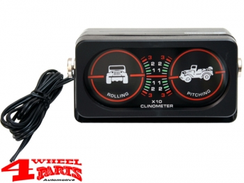 Clinometer and Gradiometer illuminated Off Road for Jeep Car and Van