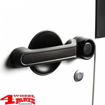 Door Handle Inserts Alu Black Wrangler JK year 07-18 2-doors