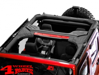 Roll Bar Cover Black Polyester Jeep Wrangler JK year 07-18 4-doors