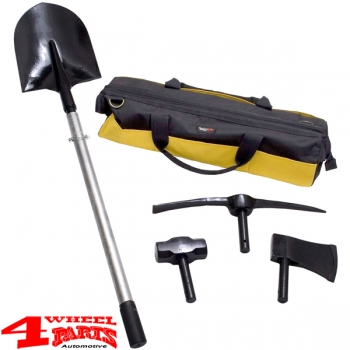 Recovery Kit incl. Sturdy Steel Handle and interchangeable Tool Heads