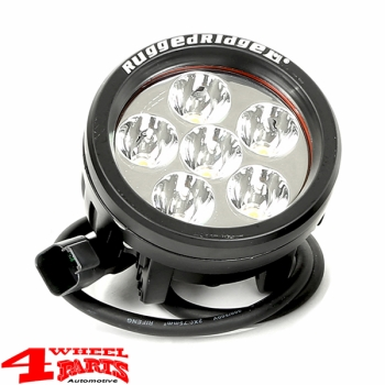 LED Headlamp round of Rugged Ridge Ø 8,9cm 18 Watt with E-mark