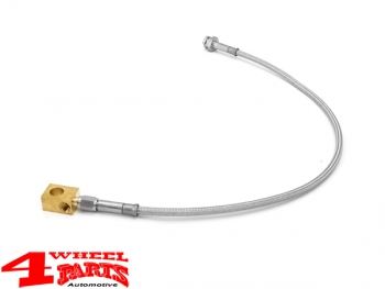 Brake Hose Rear +100mm Stainless Steel Wrangler YJ year 87-95