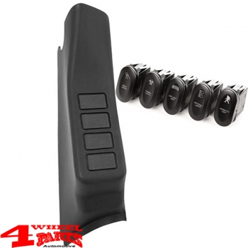 Switch Pod Kit A-Pillar incl. 5 Switches Left Wrangler JK year 07-10