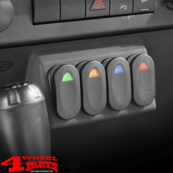 Switch Pod Lower Kit incl. 4 Switches Wrangler JK year 07-10
