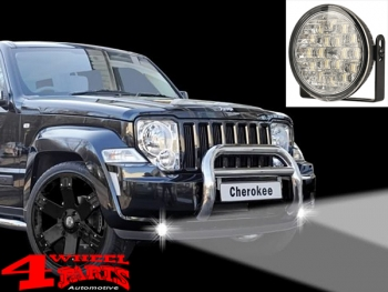 Universal LED daytime running lights round with dimming / parking light function