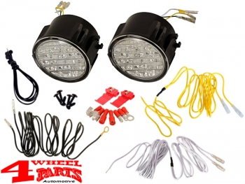 LED daytime running lights with Dimming function Wrangler JK year 07-18